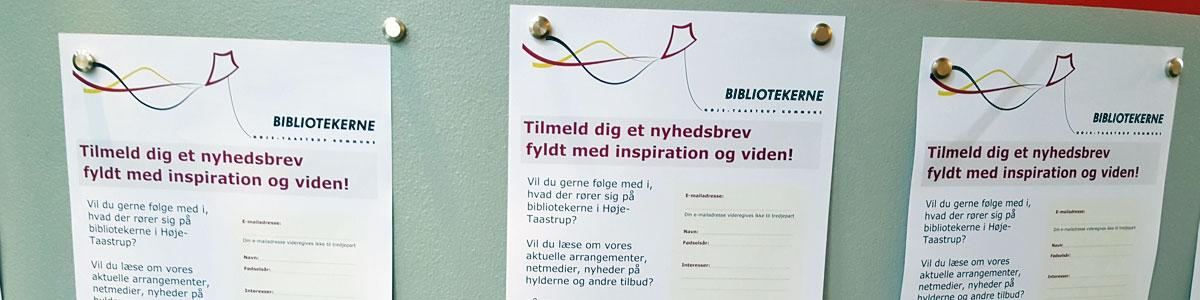Plakat for tilmelding til nyhedsbrev