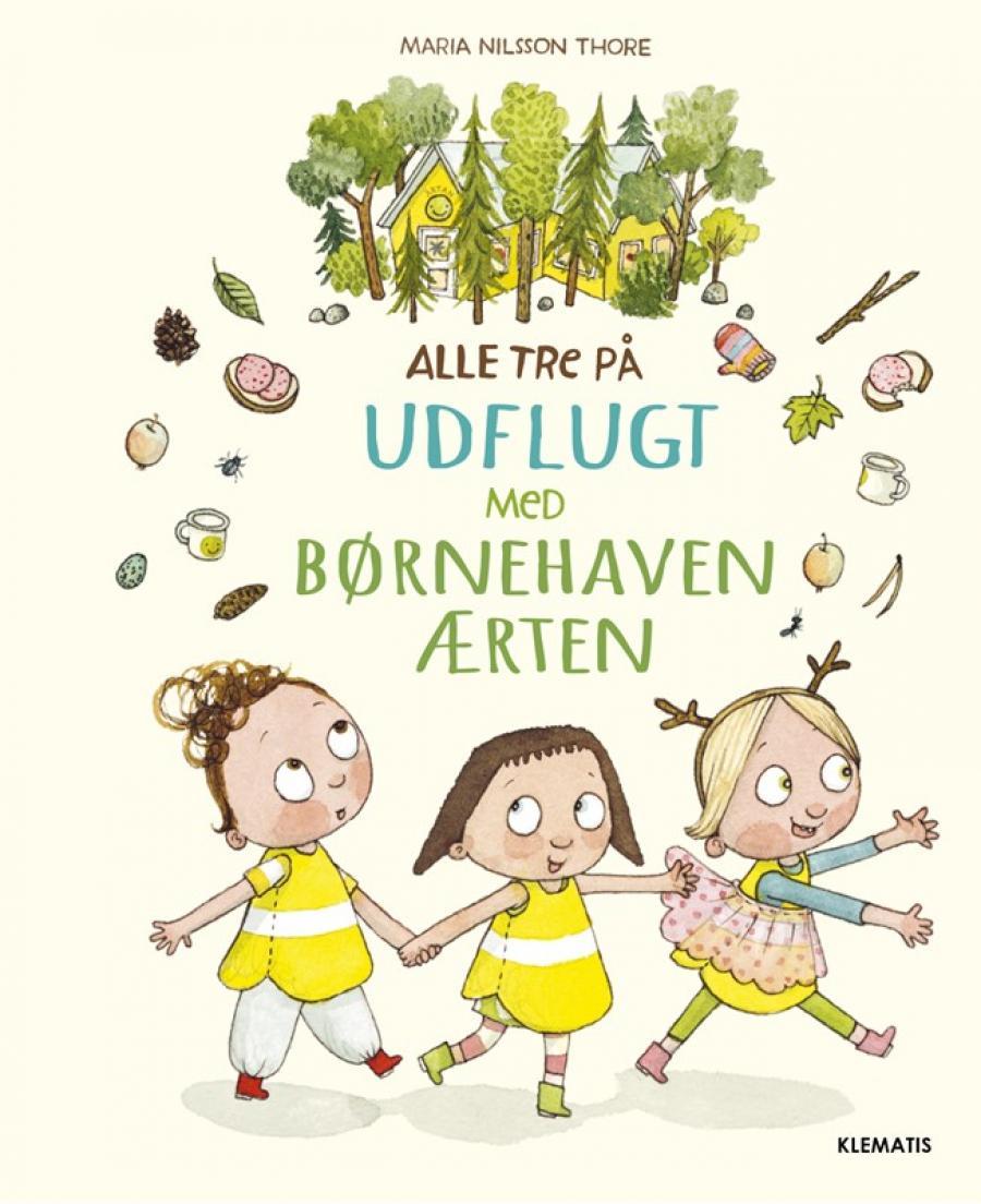 Forside bogen Alle tre på udflugt med børnehaven Ærten