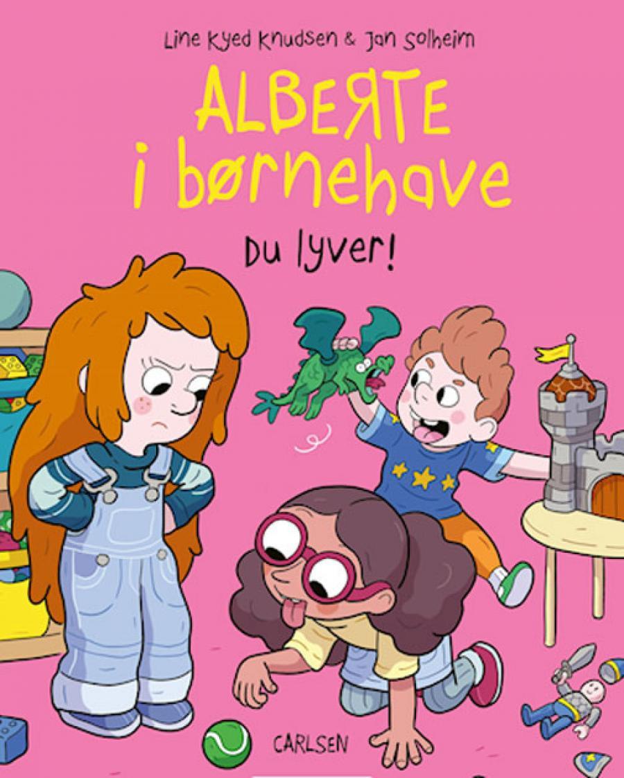 Forside af bogen Alberte i børnehave