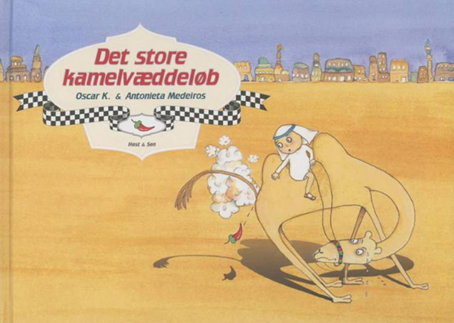 Forside af bogen Det store kamelvæddeløb