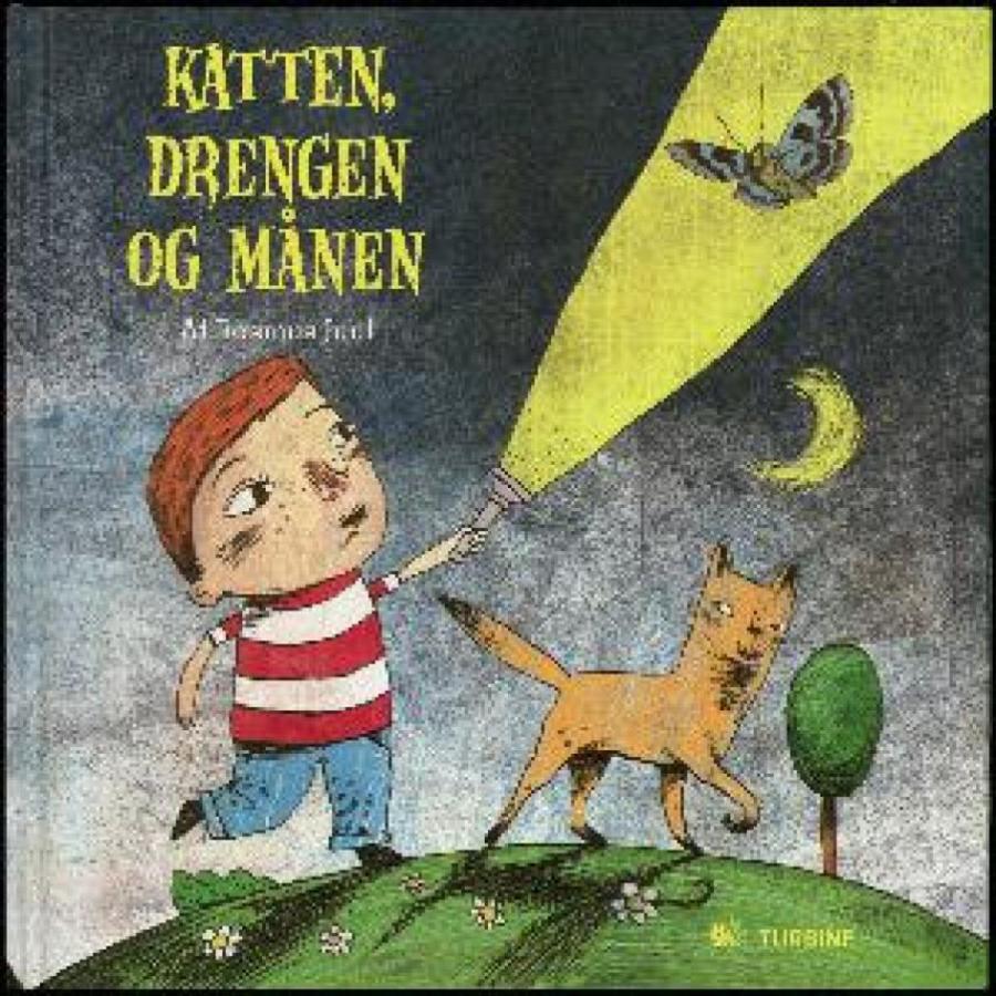 Forside af bogen: Katten, drengen og månen
