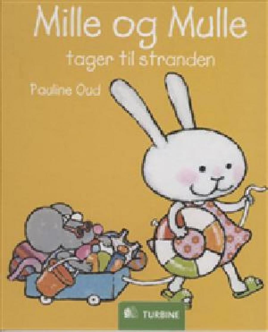 Forside af bogen Mille og Mulle tager til stranden