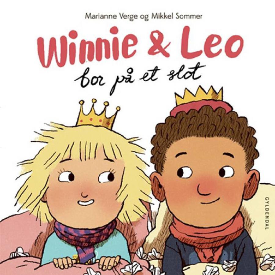 Forside af bogen Winnie & Leo bor på et slot